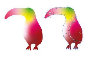 Färgövertonad vektorgrafik